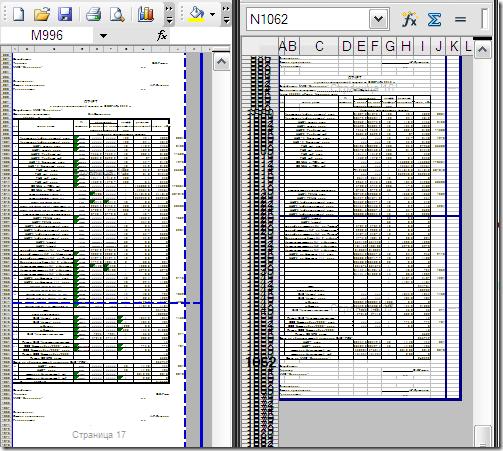 Предварительный просмотр. Microsoft Office 2003 vs OpenOffice 3.2